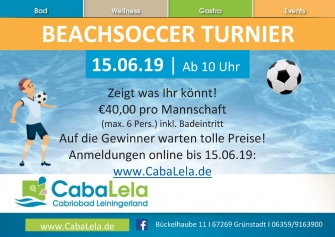 Beach Soccer Turnier am 15.06.2019