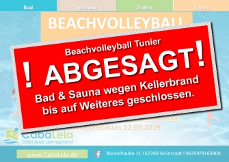 Beach Volleyball Turnier – ABGESAGT!